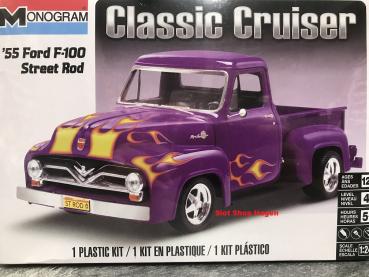 Classic Cruiser 55´Ford F100 Street Rod  Car  1:24  Monogram 880