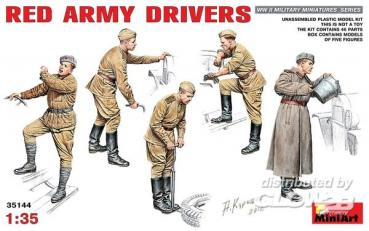Red Army Drivers in 1:35   MiniArt 35144