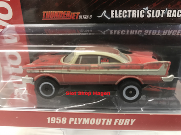Auto World Thunderjet 1958 Plymouth Fury - Christine (For Sale/Dirty) HO Scale Slot Car 3584801