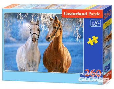 Castorland: The Winter Horses, Puzzle 260 Teile  B-27378-1