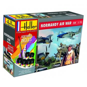 NORMANDIE AIR War(Mustang, Focke Wulf, 2 sets de figurines) in 1:72 Heller 53014