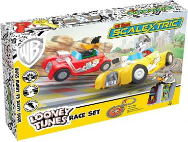 Micro Scalextric G1141 My First Looney Tunes with Bugs Bunny Vs Daffy Duck batteriebetriebenes Spielzeug