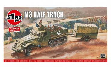 M3 Half Track & 1 Ton Trailer, Vintage Classics in 1:76 Airfix A02318V