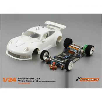 Porsche 991 RSR Full Racing RC Competition White Kit m. RC-2 Chassis Fahrwerk  Scaleauto SC7047RC2